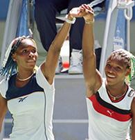 American tennis pros Venus and Serena Williams